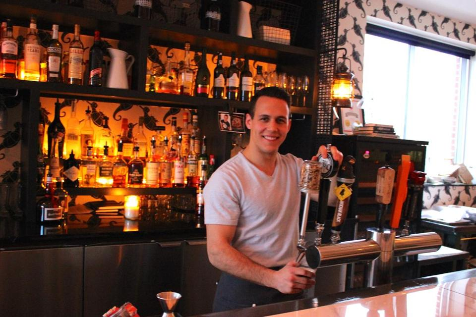 Bartender Alex Serafini at Supply and Demand.